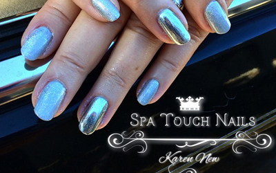 Nails with Metallic Polish