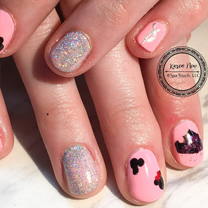 Pink Nails with Unique Design